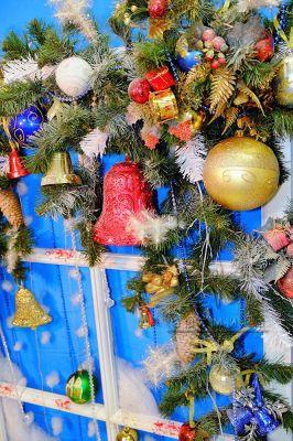 Картина панно - Сказочное новогоднее окно