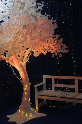 Декоративное дерево из лепестков Гинкго высотой - 3,2 м