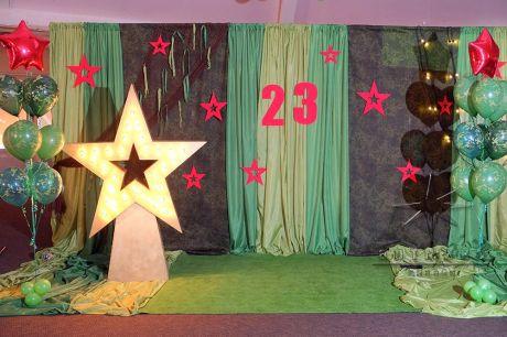 Фотозона Звезда к празднованию 23 февраля