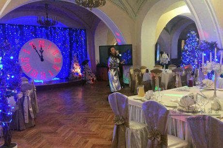Праздничное оформление зала в новогоднюю ночь