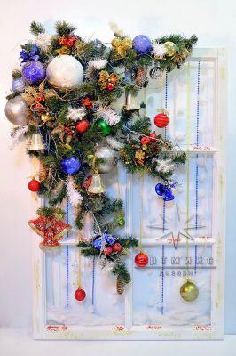 Новогоднее панно для украшения стен в просторных помещениях офисов, фойе и холлах