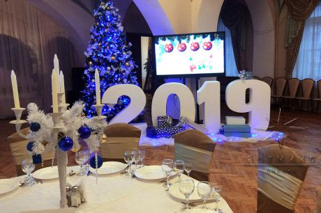 Новогоднее оформление столов гостей