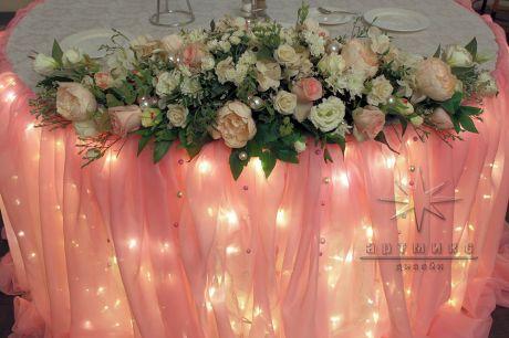 Цветочная композиция на столе именинника