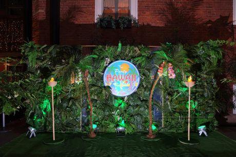 Тропическая фотозона для гавайской вечеринки