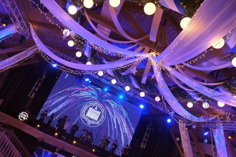 Световое оформление потолка в банкетном зале