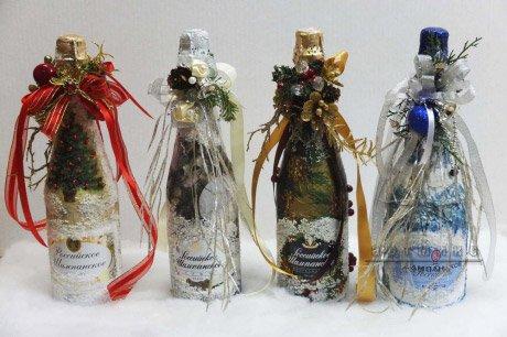 Одежда для бутылки шампанского на Новый год
