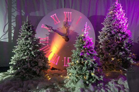 Декорация Часы с подсветкой