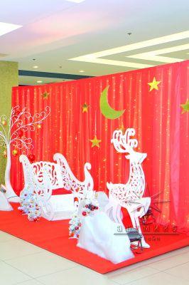 Объёмная фигура Сани Деда Мороза  для фотозоны