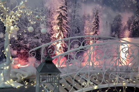Ажурный мостик на Новый год