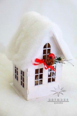 Новогодний сувенир домик светильник • Цена договорная   Арт 77701
