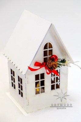 Новогодний сувенир домик светильник • Цена договорная  Арт 77702