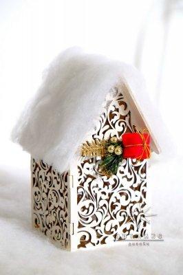 Новогодний сувенир домик светильник • Цена договорная   Арт 77703