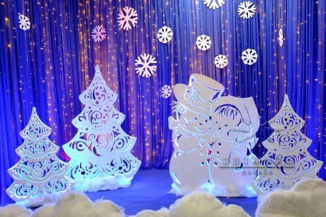Фотозона Пара Снеговиков из серии Ажурные фигуры со светодиодной подсветкой
