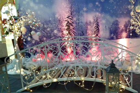 Фотозона Мостик или фон в стиле Новогодняя сказка