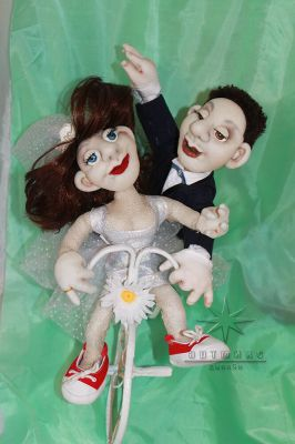 Авторская текстильная кукла *молодожены*