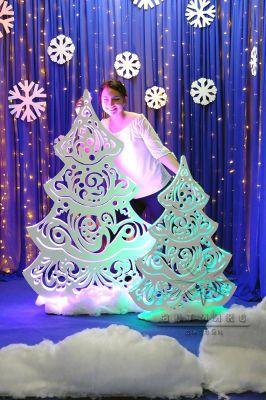 Новогодняя светящаяся ажурная двухсторонняя Ёлочка
