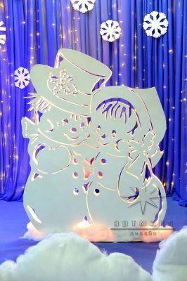 Новогодние световые фигуры Снеговики Малыши