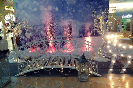Новогоднее оформление в ТРК Гранд Каньон