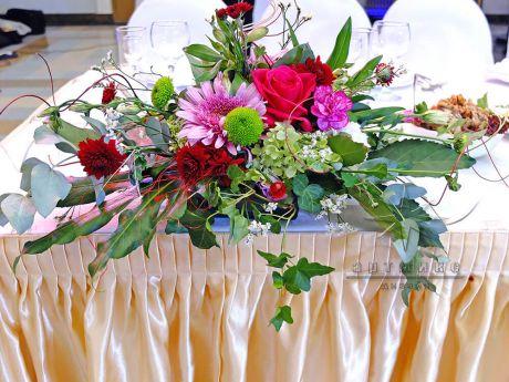 Оформление праздника живыми цветами