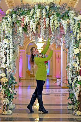 Арка из цветов во Дворце Сюзора