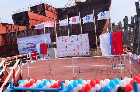 Украшение сценической площадки для торжественного мероприятия всероссийского значения