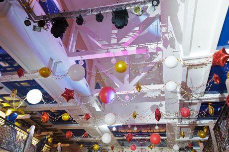 Воздушные шары на новогоднем мероприятии