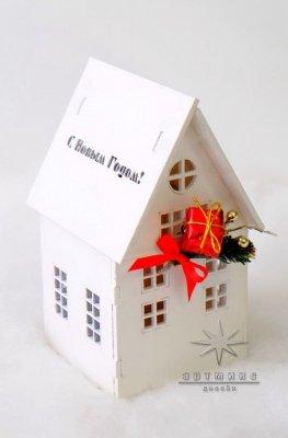 Новогодний сувенир домик светильник • Цена договорная • Арт 77705
