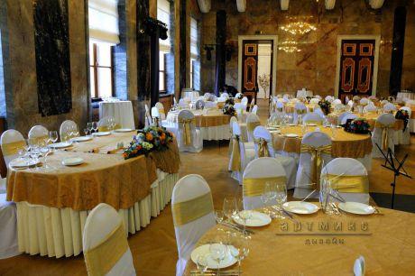 Золотое оформление юбилея в Михайловском замке