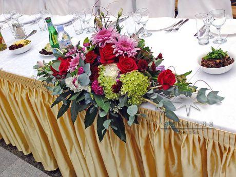 Цветы для именинника в оформлении зала